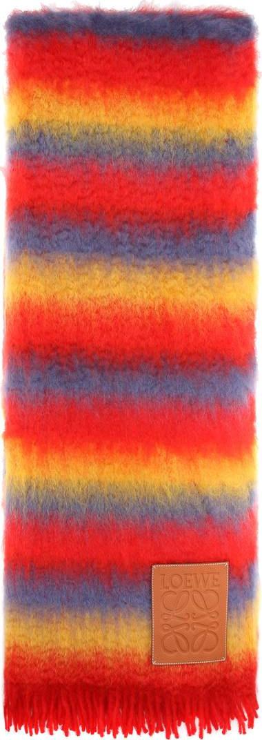 LOEWE Wool and mohair-blend scarf
