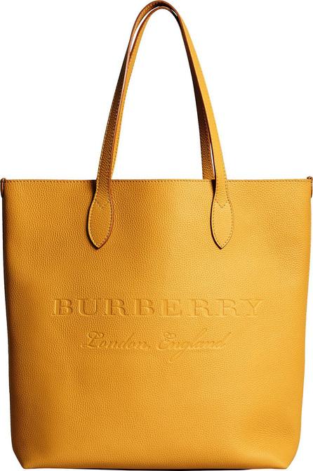 Burberry London England Medium logo embossed tote