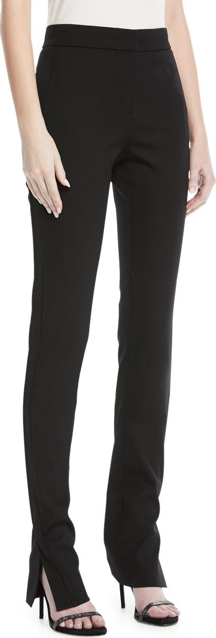 Oscar De La Renta Side-Slit Skinny-Leg Pants