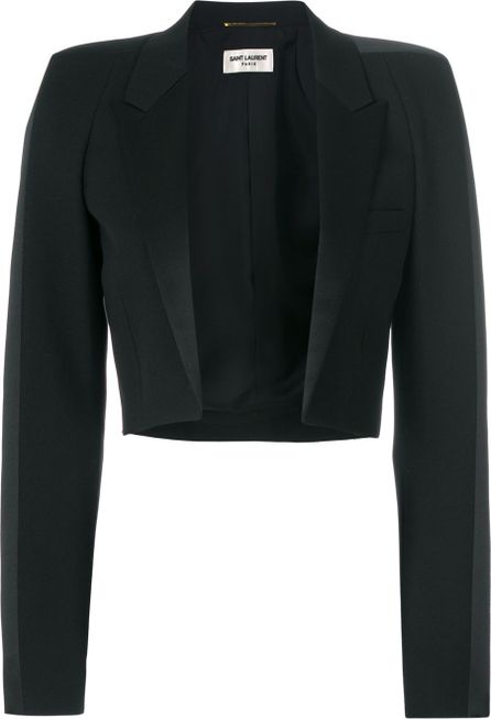 Saint Laurent cropped peak lapel jacket