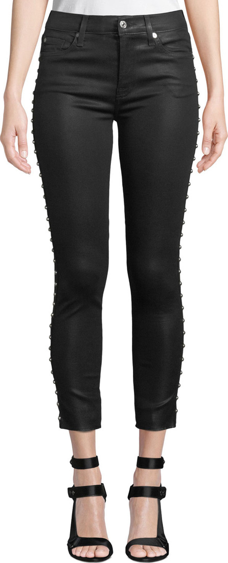 7 For All Mankind The Ankle Skinny Side-Stud Jeans