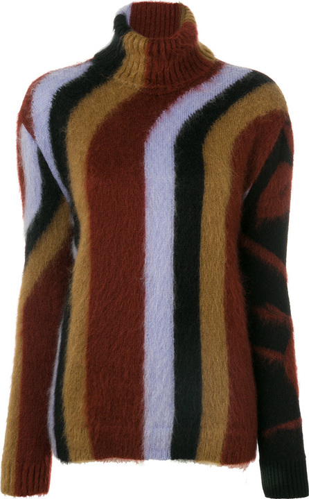 Nº21 Mixed pattern roll-neck sweater