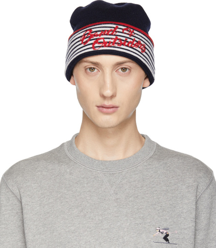 Band of Outsiders Navy Alpine Band Beanie
