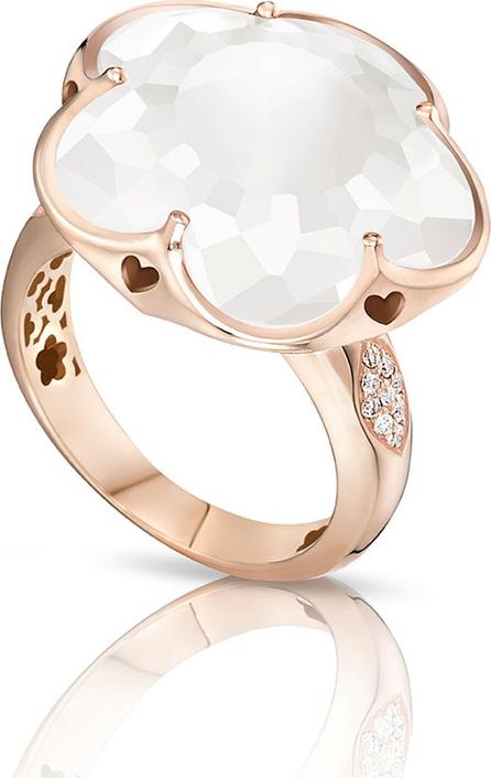 Pasquale Bruni Bon Ton White Quartz & Diamond Ring in 18K Rose Gold