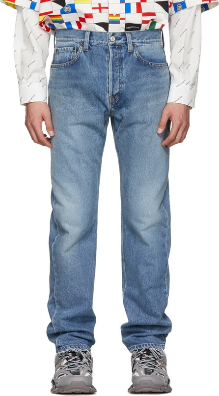 Balenciaga Blue Standard Fit Jeans