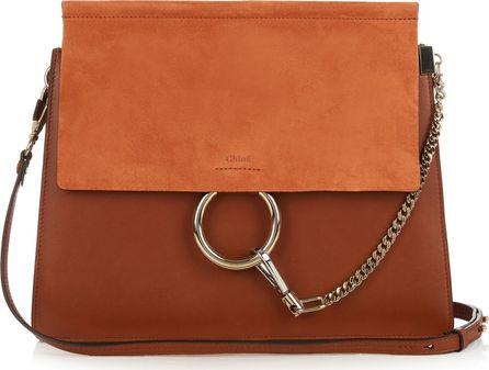 Chloe Faye medium suede and leather shoulder bag
