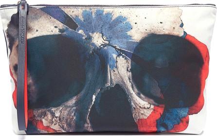 Alexander McQueen Floral skull print pouch