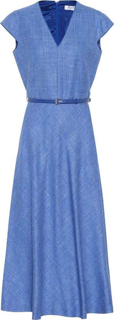 Max Mara Caramba silk-blend dress