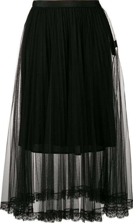 Markus Lupfer Pleated tulle skirt