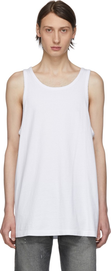 John Elliott White Rugby Tank Top