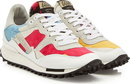 Golden Goose Deluxe Brand Starland Sneakers with Leather and Pony Hair