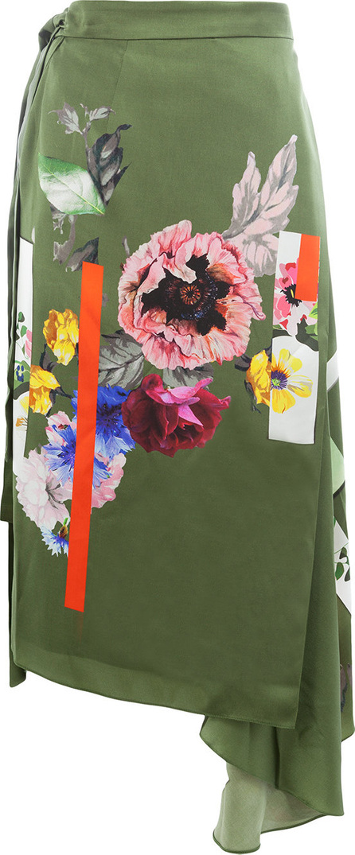 Preen Sketchbook floral print skirt