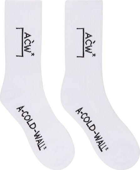 A-Cold-Wall* White Classic Logo Socks
