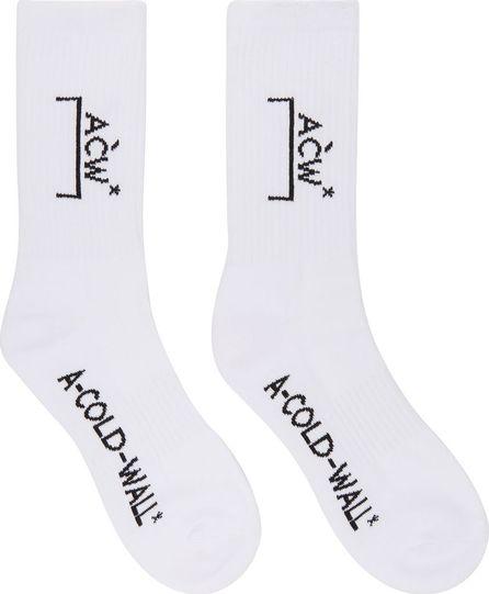A-Cold-Wall* White Classic Logo Socks