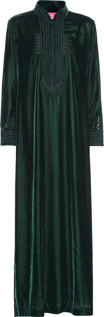 F.R.S For Restless Sleepers Epione velvet maxi dress