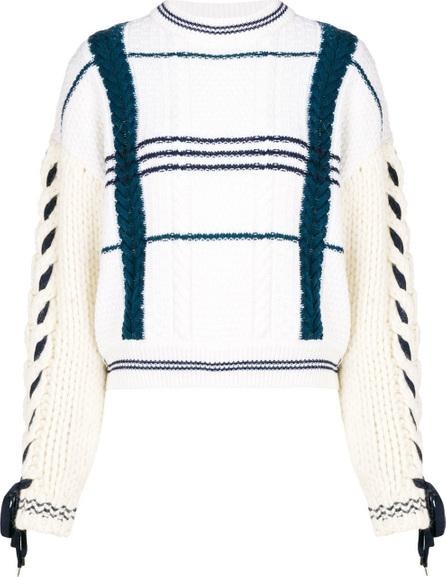 Carven Pattern chunky knit sweater