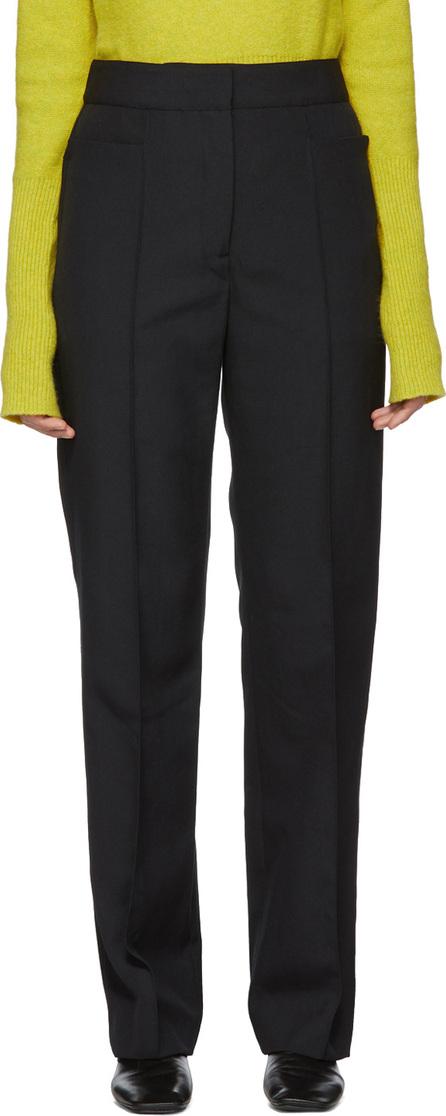 Lemaire Black Wool Suit Trousers