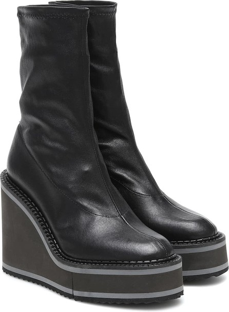 Robert Clergerie Bliss leather wedge ankle boots