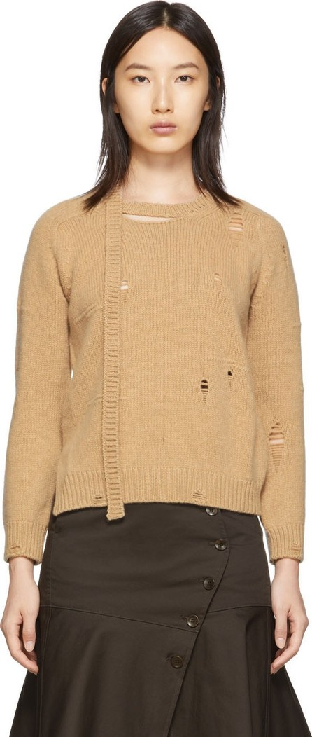 MARC JACOBS Beige 'The Worn And Torn' Crewneck Sweater