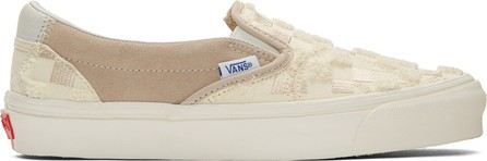 Vans Off-White & Tan Bricolage Classic Slip-On Sneakers