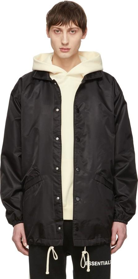 Essentials Black Logo Coach Jacket