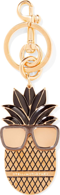 Stella McCartney Gold-tone enamel keychain