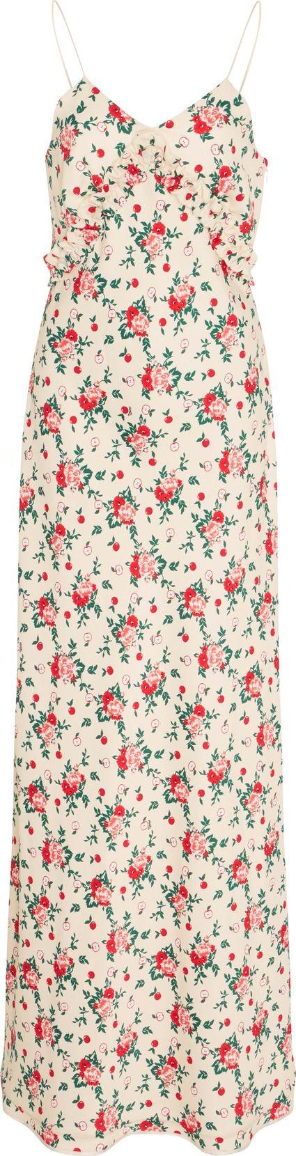 Vivetta Bariki Floral Slip Dress with Neck Tie