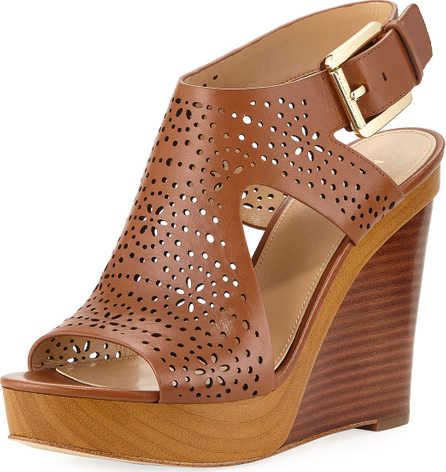 MICHAEL MICHAEL KORS Josephine Perforated Wedge Sandal