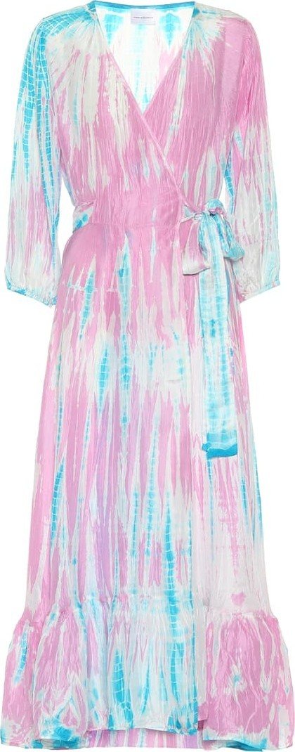 Anna Kosturova Exclusive to Mytheresa – Tie-dye silk midi dress