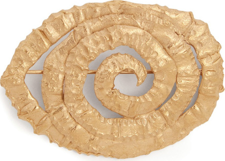 Orit Elhanati Four gold-plated spiral brooch