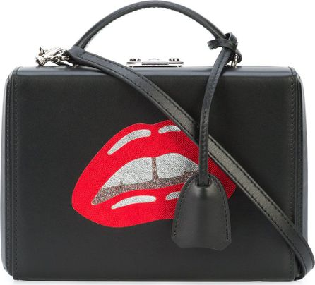 Mark Cross lips print cross body bag
