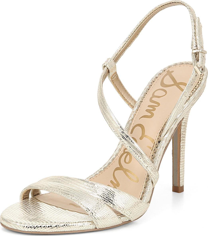 bc4228a705c Sam Edelman Alisandra Strappy Metallic Leather Sandals - Mkt