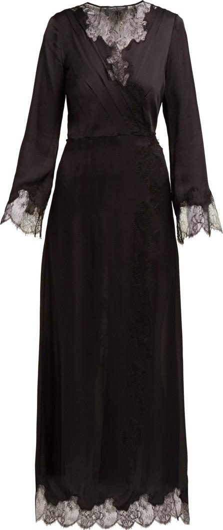 CARINE GILSON Lace-trimmed silk robe