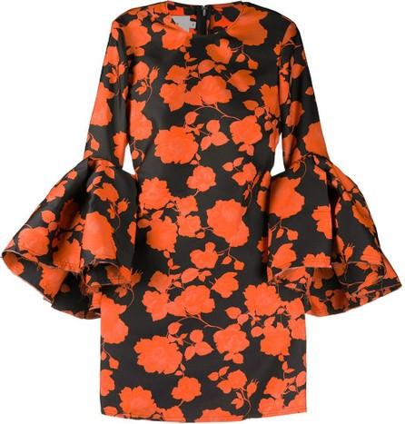 Marques'Almeida Distressed floral-print dress