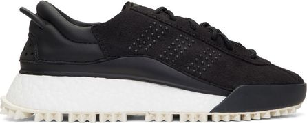 Adidas Originals by Alexander Wang Black AW Hike Lo Boost Sneakers