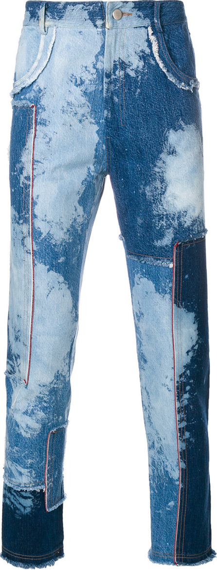 Damir Doma Denim patchwork raw edge jeans