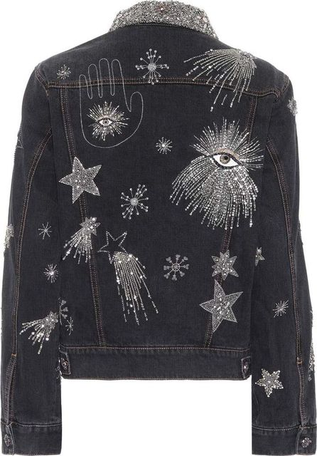 Isabel Marant Eloise beaded denim jacket