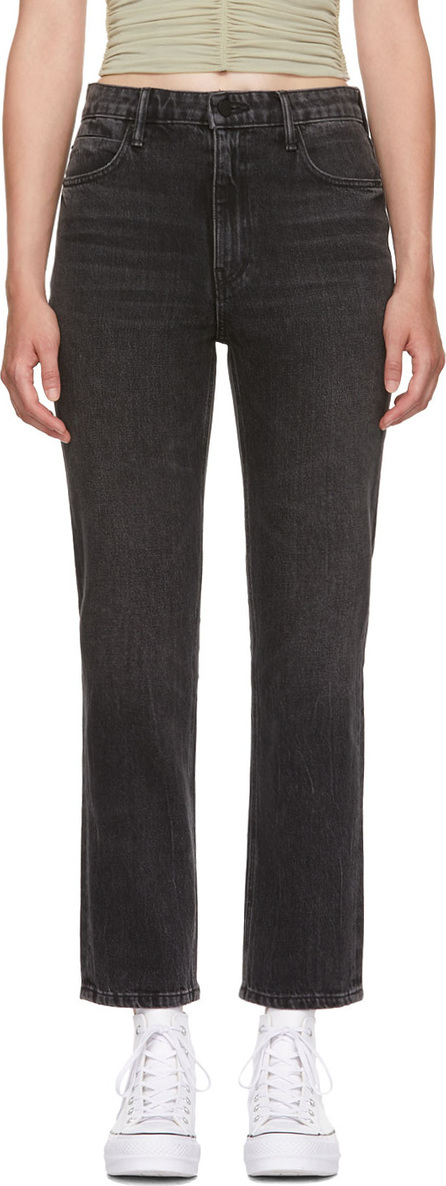 Alexander Wang Grey Cult Cropped Straight Jeans