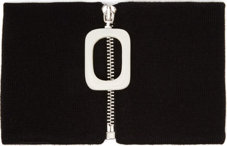 J.W.Anderson Striped knitted merino-wool neckband