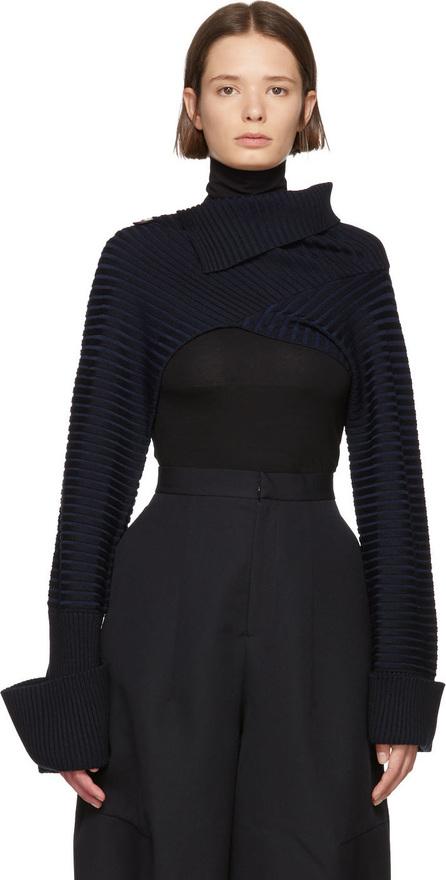 Enfold Navy Lara Cropped Body Sweater