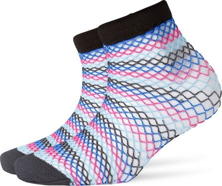 Burlington Striped Fishnet Socks
