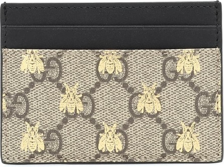 Gucci GG Supreme Bees card holder