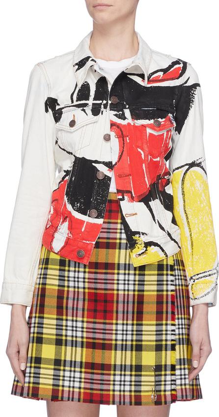 MARC JACOBS x Disney Mickey Mouse print bleached denim jacket