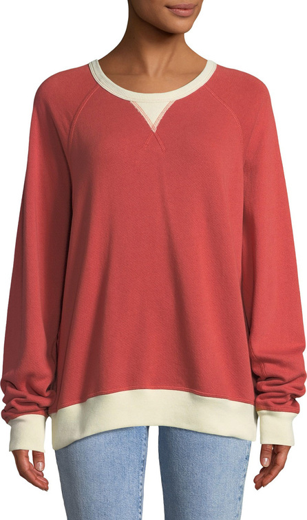 THE GREAT. The Baseball College Pullover Sweatshirt