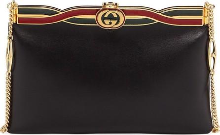 46f46073bd5f Gucci Broadway Evening Palm Lux Leather Clutch Bag