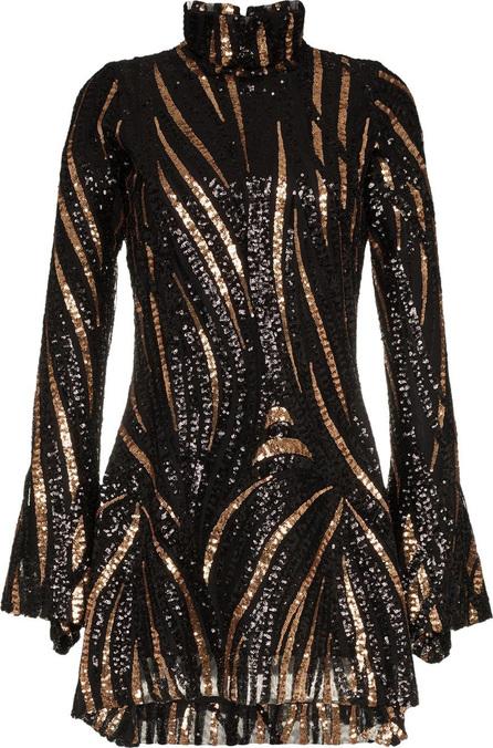 Halpern Fitted sequin embellished mini dress
