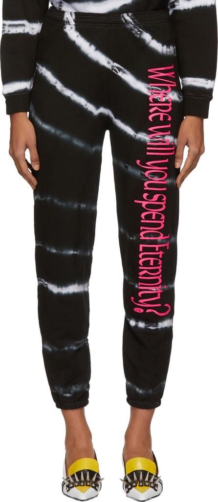 Ashley Williams Black & White Tie-Dye 'Where Will You Spend Eternity' Lounge Pants