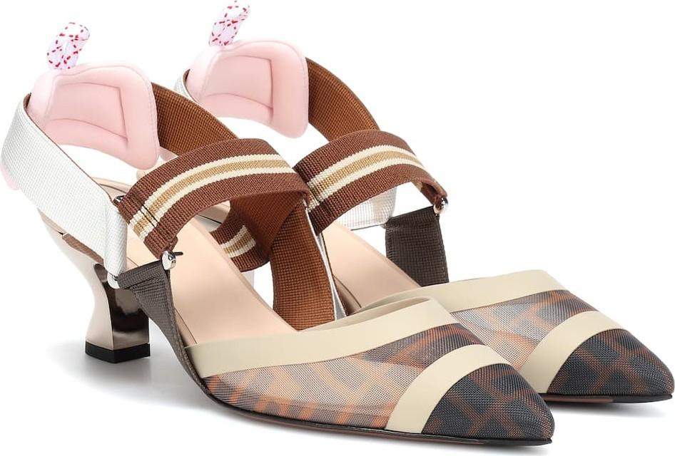 f6faa69503a7 Fendi Colibri slingback kitten heel pumps - Mkt