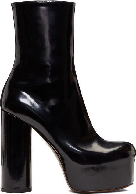 Vetements Black Leather Platform Boots