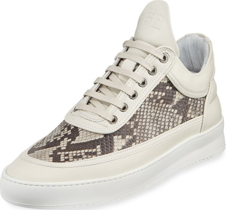 Filling Pieces Men's Ripple Python-Trim Low-Top Sneakers
